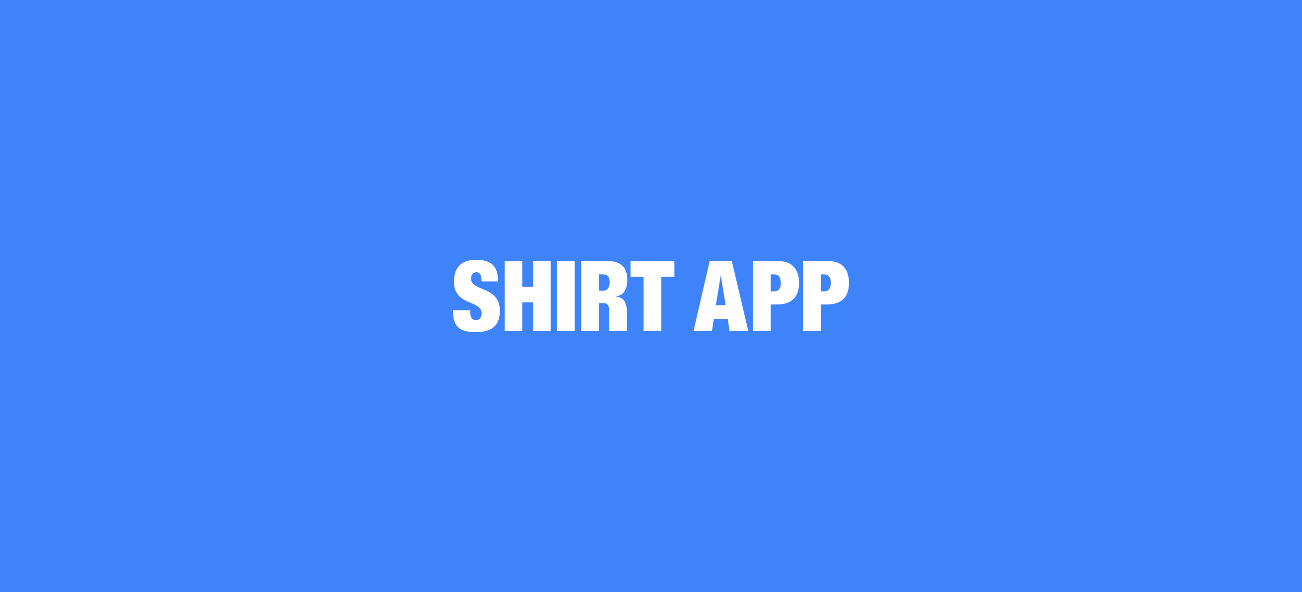 'Shirt App' Clothing App
